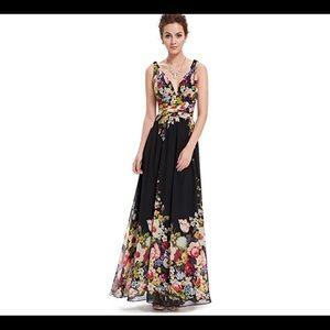 🆕 Sleeveless V-Neck Semi-Formal Dress